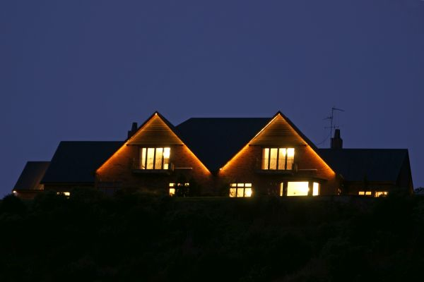 Lodge at night